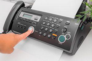 Faxgerät eines von vielen Geräten die man für den Start up braucht