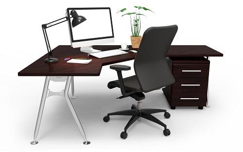 Der Arbeitsplatz besteht unteranderem aus dem richtigen Bürostuhl