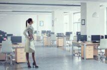 Schickes, stylisches Büro.