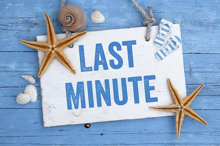 Last Minute: Gute Werbung für seine Kunden, letzte Minute