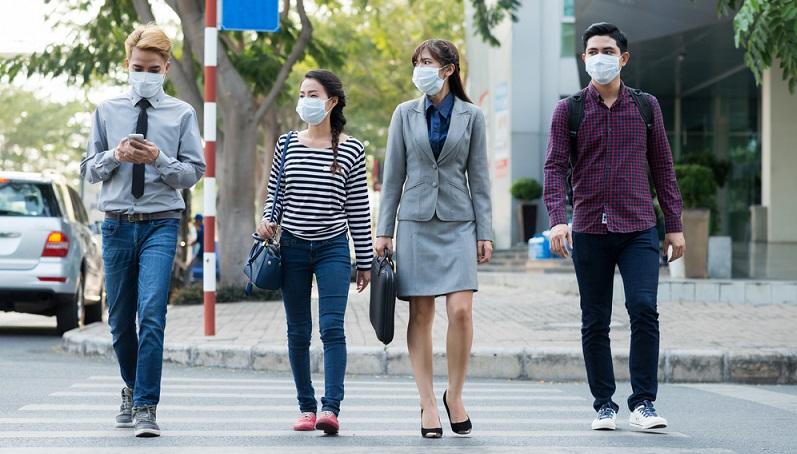 """Dieses Start-up konnte im Bereich """"Wearables"""" überzeugen. Die Firma stellt die sogenannte """"Athlete's Mask"""" her, eine Atemschutzmaske, mit der Sportler auch in stark luftverschmutzten Regionen trainieren können. (#01)"""