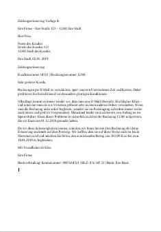Zahlungserinnerung Vorlage Nr. 4 zum Downloaden